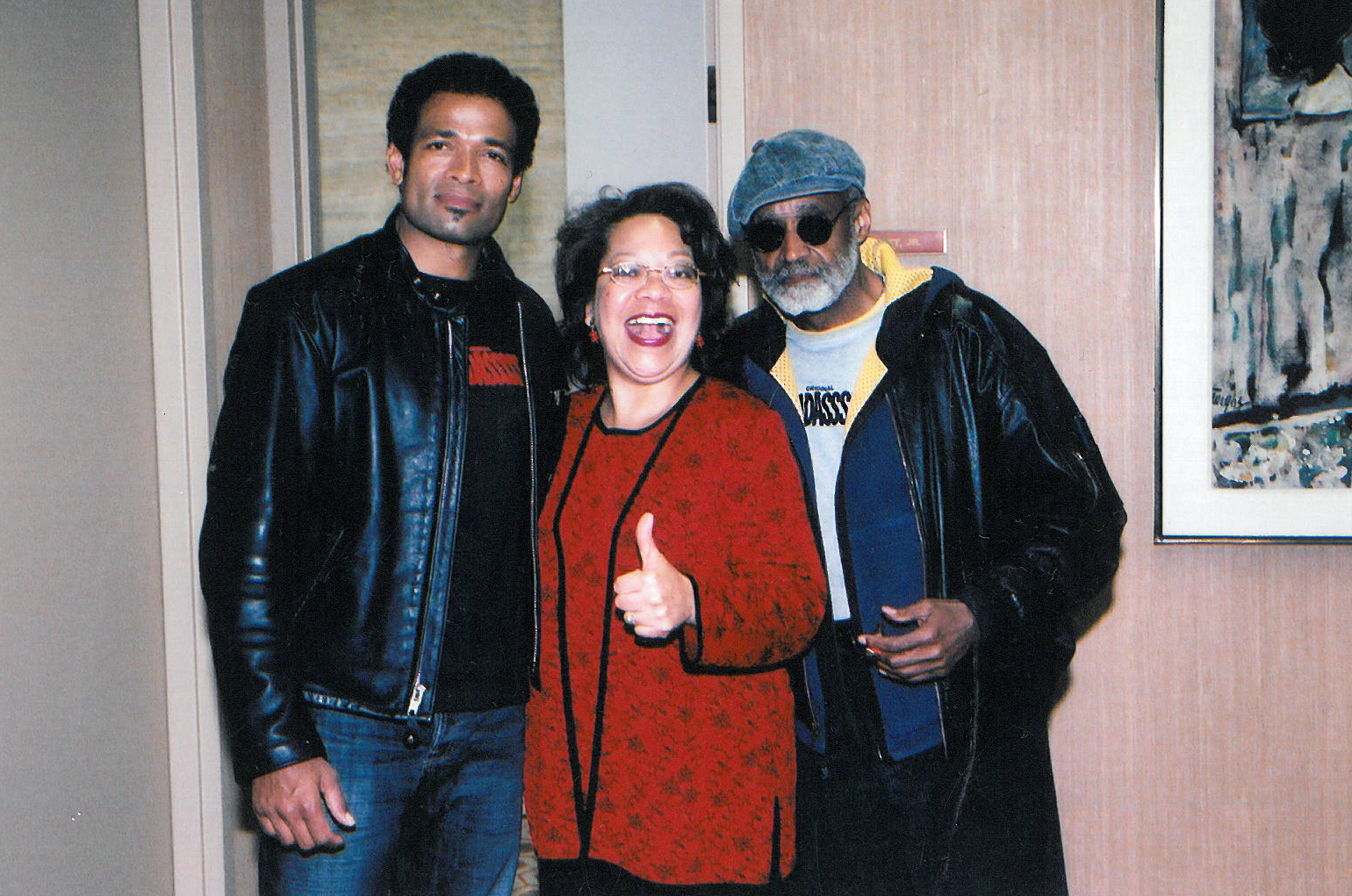 Lynn with Mario and Melvin Van Peebles